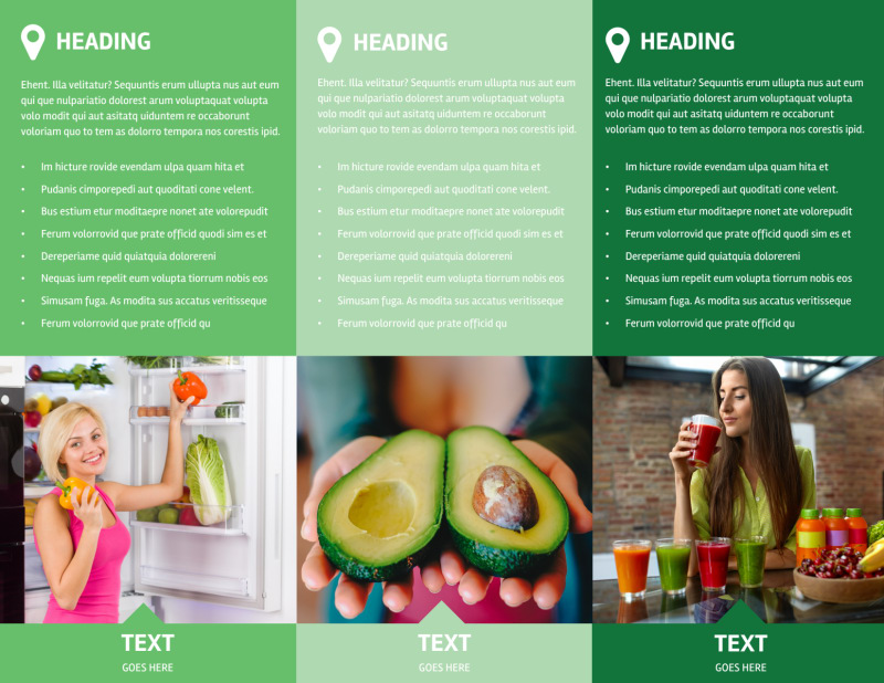 Nutrition Options Brochure Template Preview 3