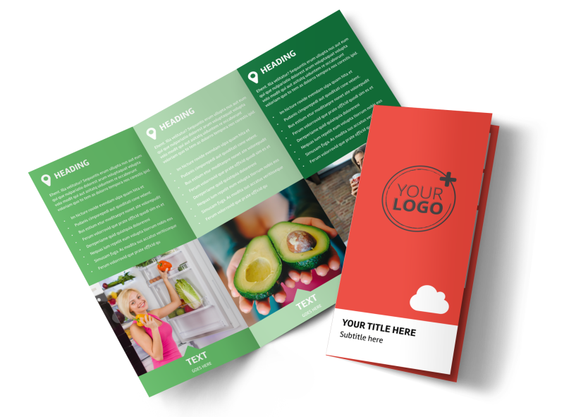 Nutrition Options Brochure Template Preview 1