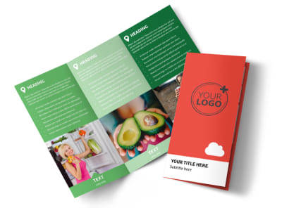 Nutrition Options Tri-Fold Brochure Template preview
