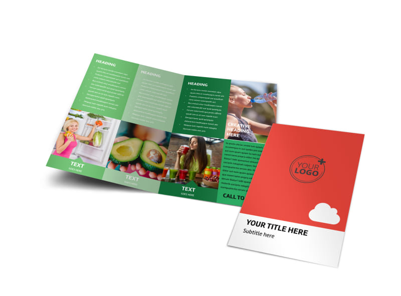 Nutrition Options Bi-Fold Brochure Template