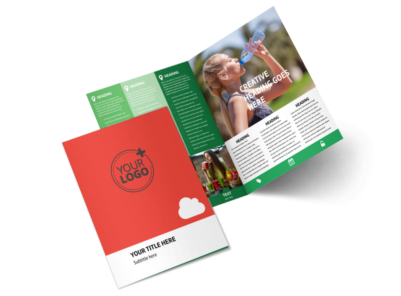 Nutrition Options Bi-Fold Brochure Template 2