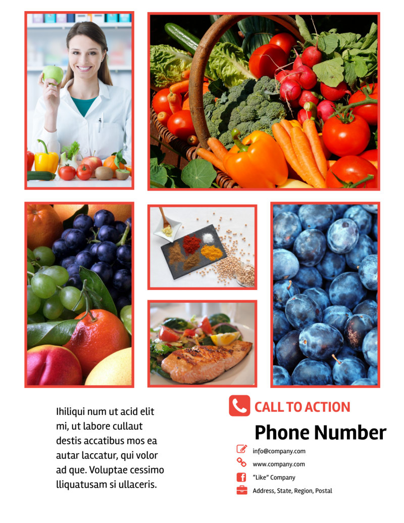 Nutrition Options Flyer Template Preview 3