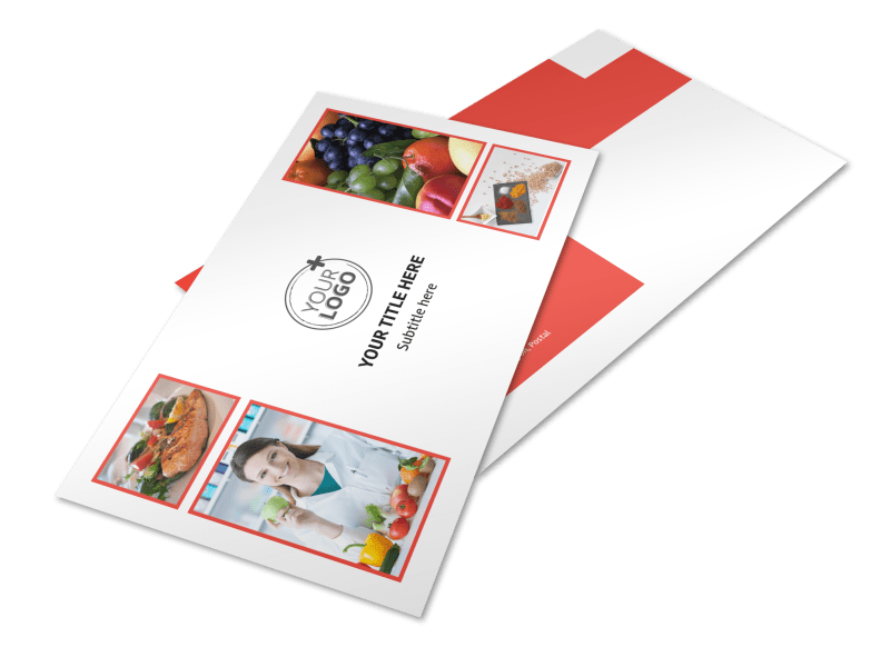 Nutrition Options Postcard Template Preview 1