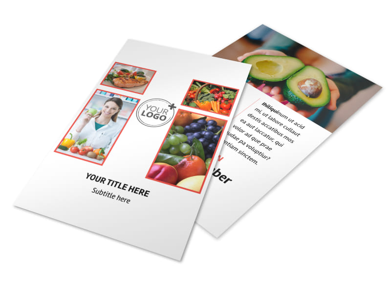 Nutrition Options Flyer Template 3
