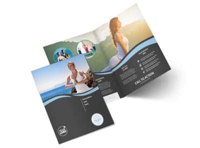 Spiritual Yoga Class Bi-Fold Brochure Template 2 preview