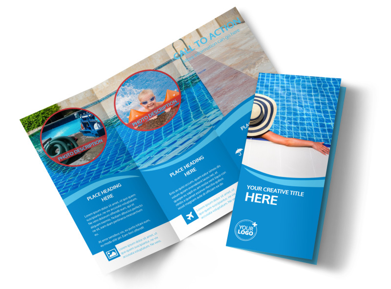 Swimming Pool Service Brochure Design : Pool cleaning brochure template mycreativeshop