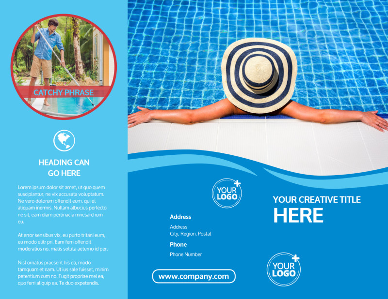 Pool Cleaning Brochure Template Preview 2