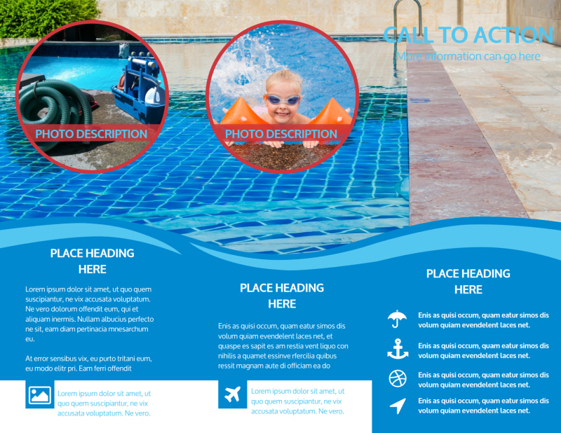 Pool Cleaning Brochure Template Preview 3