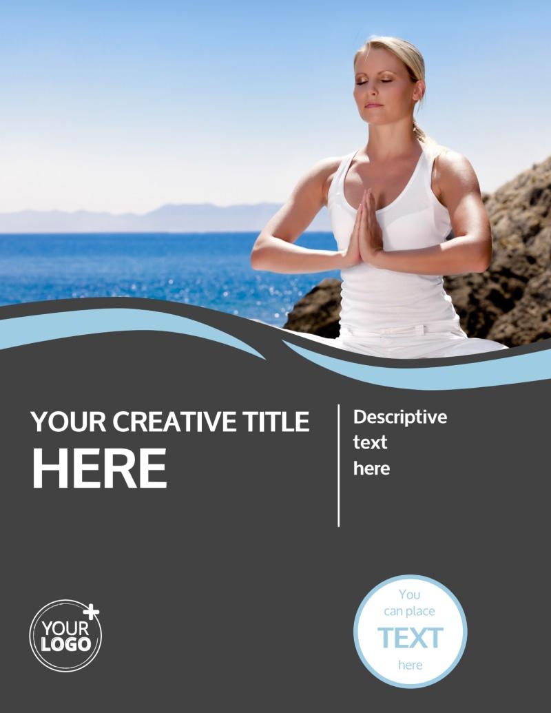 Spiritual Yoga Class Flyer Template Preview 2