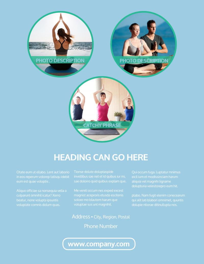 Spiritual Yoga Class Flyer Template Preview 3