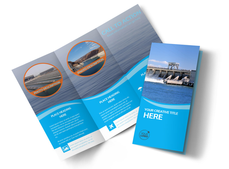 Hydropower Tri-Fold Brochure Template