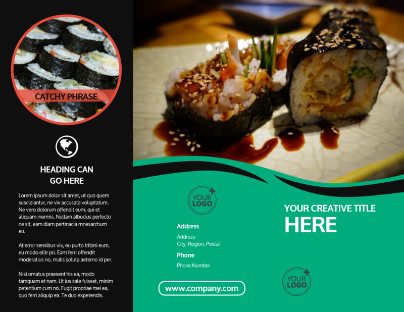 Fresh Sushi Brochure Template Preview 2