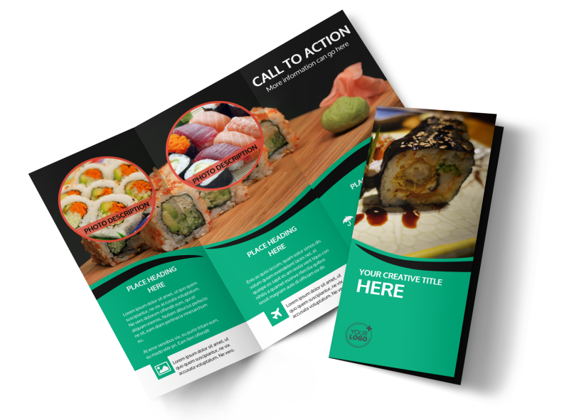 Fresh Sushi Brochure Template Preview 1