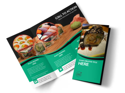 Fresh Sushi Tri-Fold Brochure Template