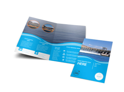 Hydropower Bi-Fold Brochure Template preview