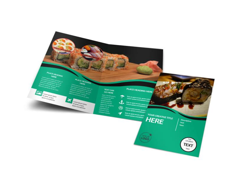 Fresh Sushi Bi-Fold Brochure Template