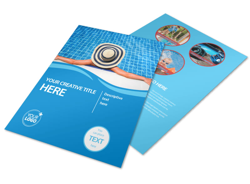 Swimming Pool Service Brochure Design : Pool cleaning flyer template mycreativeshop