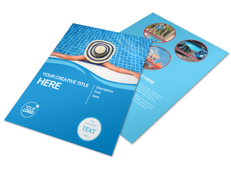 Pool Cleaning Flyer Template Preview 1