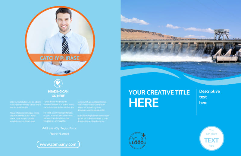 Hydropower Brochure Template Preview 2
