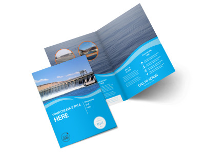 Hydropower Bi-Fold Brochure Template 2