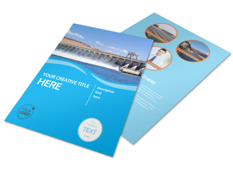 Hydropower Flyer Template