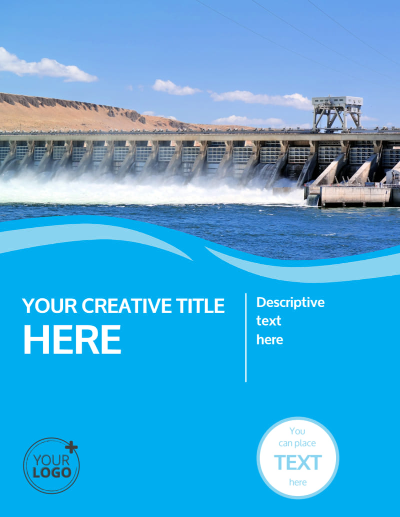 Hydropower Flyer Template Preview 2