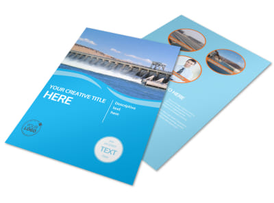 Hydropower Flyer Template preview