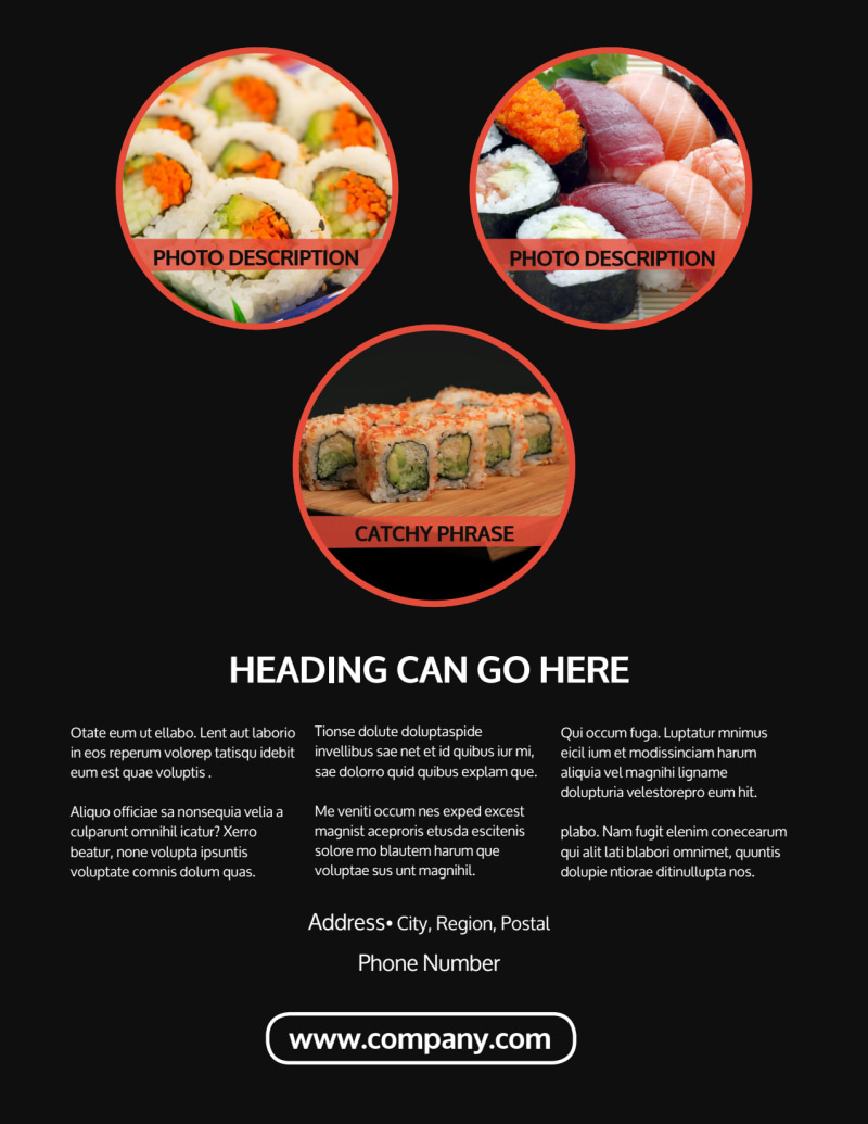 Fresh Sushi Flyer Template Preview 3