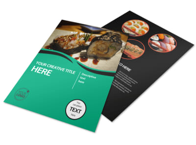 Fresh Sushi Flyer Template preview