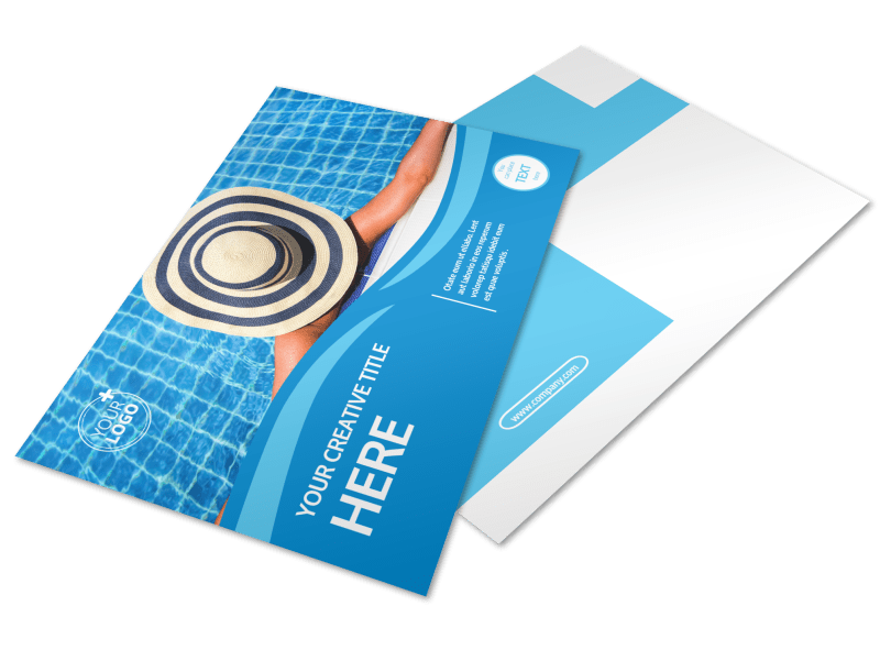 Pool Cleaning Postcard Template Preview 1