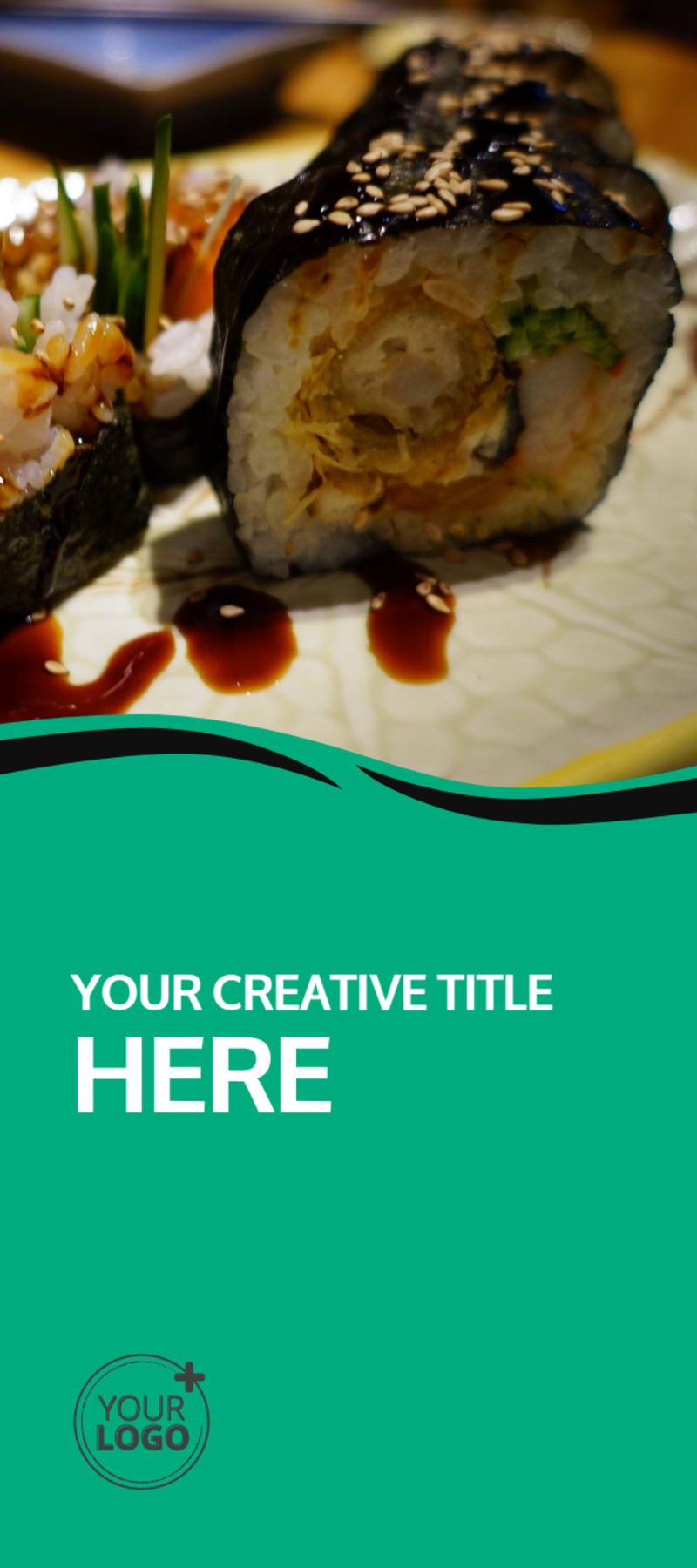 Fresh Sushi Flyer Template Preview 2