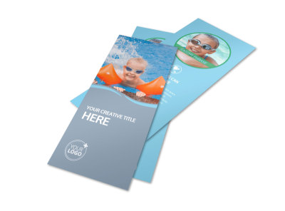 Kids Pool Party Flyer Template 2