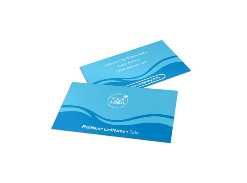 Swimming Pool Cleaning Service Business Card Template