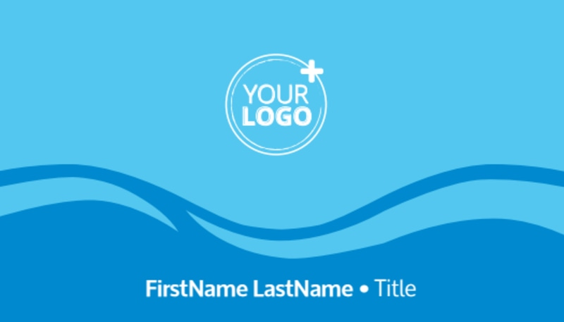 Pool Cleaning Business Card Template Preview 2