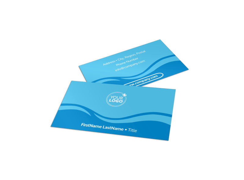 Pool Cleaning Business Card Template Preview 1