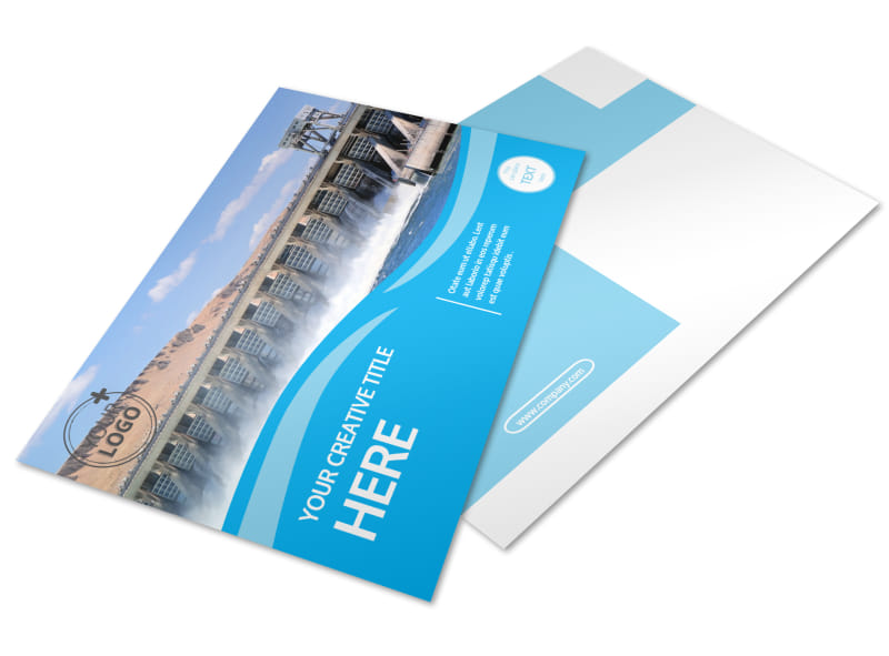 Hydropower Postcard Template Preview 4