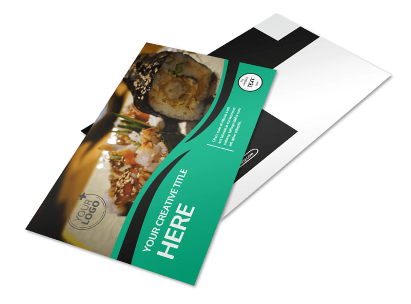 Fresh Sushi Postcard Template
