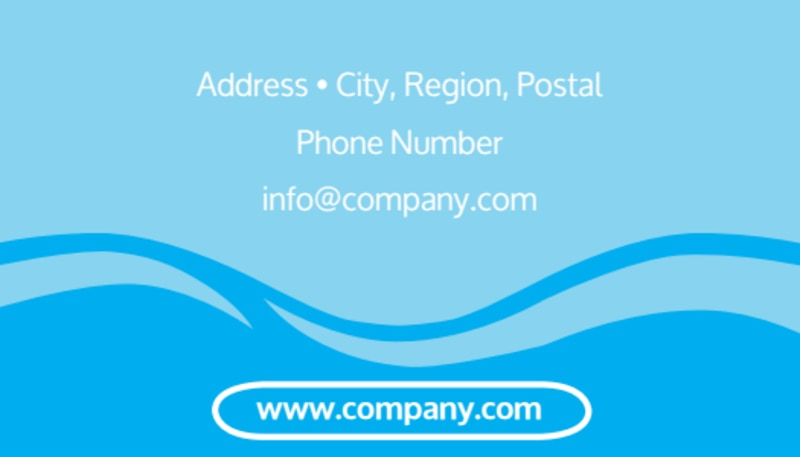 Hydropower Business Card Template Preview 3