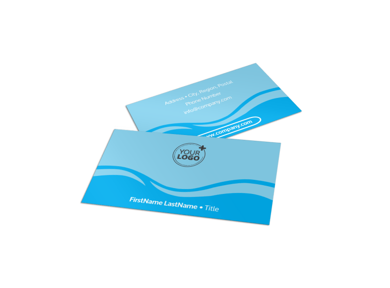 Hydropower Business Card Template Preview 1