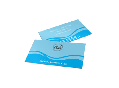 Hydropower Business Card Template preview