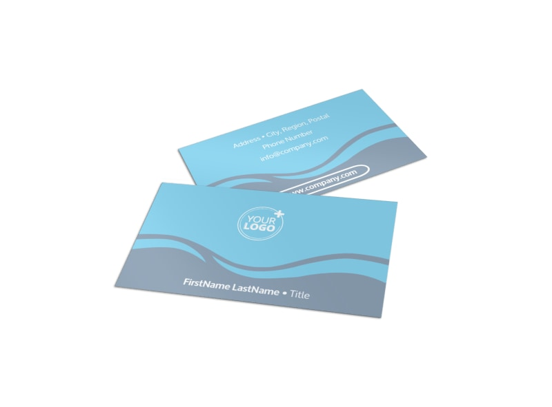 kids pool party business card template mycreativeshop