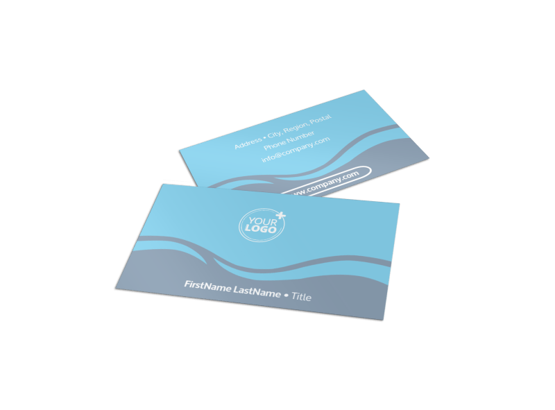 Kids Pool Party Business Card Template Preview 1