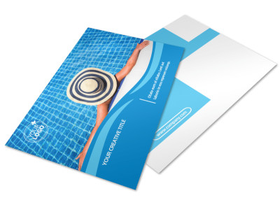 Swimming Pool Cleaning Service Postcard Template 2
