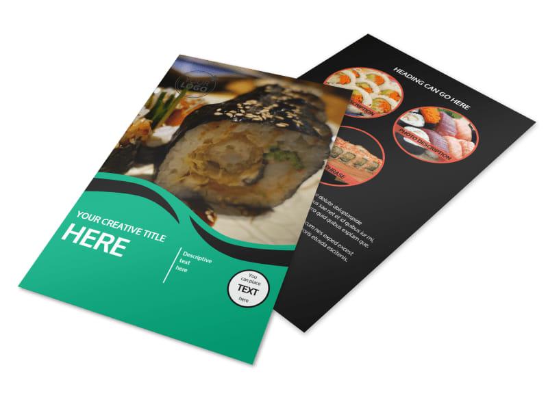 Fresh Sushi Flyer Template 3