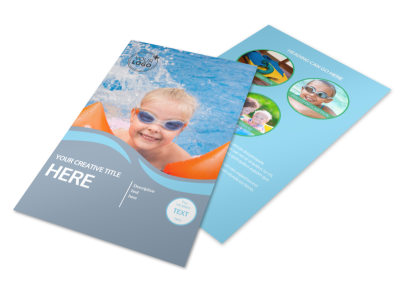 Kids Pool Party Flyer Template 3