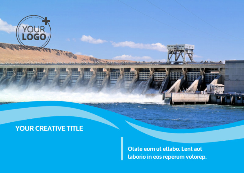 Hydropower Postcard Template Preview 2