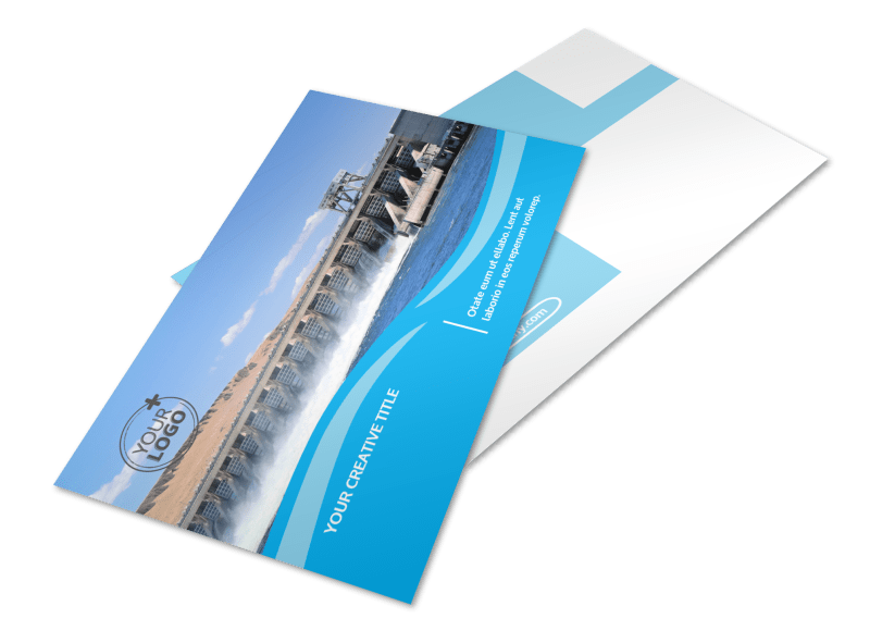 Hydropower Postcard Template Preview 1