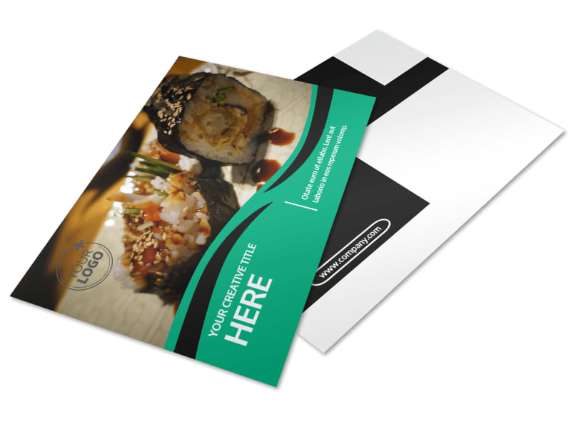 Fresh Sushi Postcard Template 2