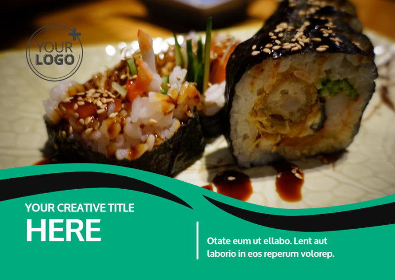 Fresh Sushi Postcard Template Preview 2