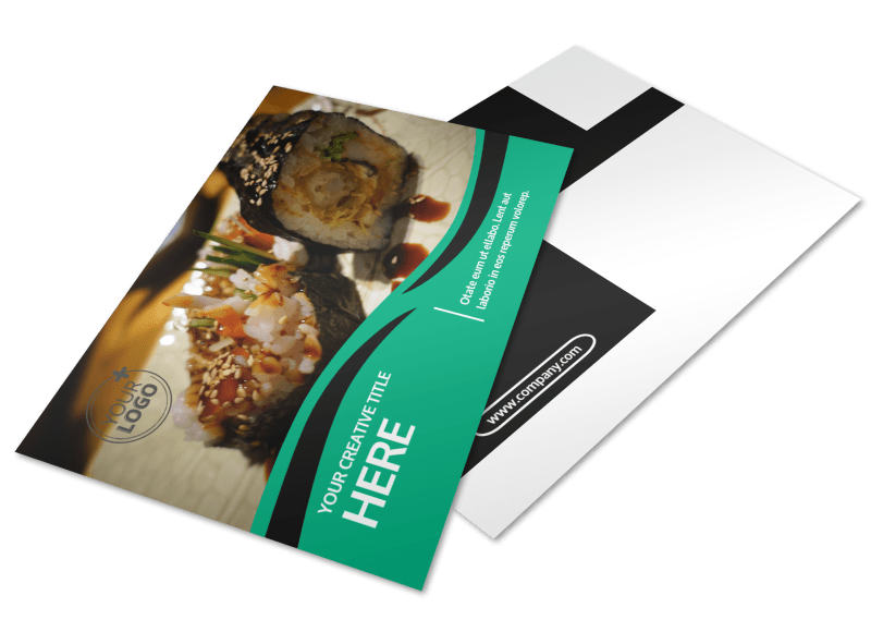 Fresh Sushi Postcard Template Preview 1